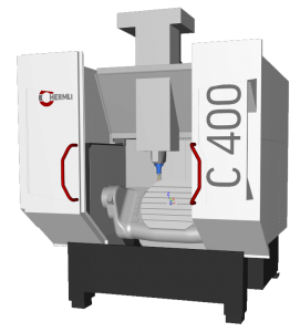 Hermle C400 CAMplete Simulation