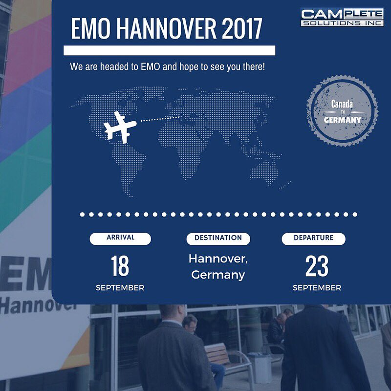 We will be at the EMO Hannover 2017 Trade Showhellip