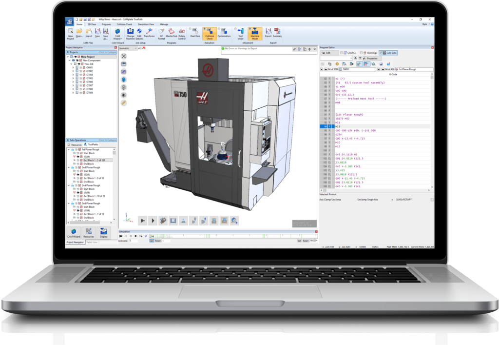 Haas Post Processor and Verification   CAMplete Solutions INC